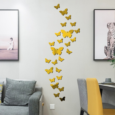 New colorful butterfly flying acrylic mirror wall stickers NHAF322928's discount tags