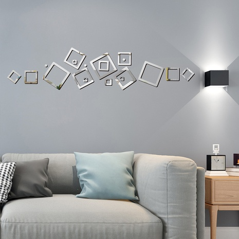 New geometric hollow square wall stickers  NHAF322930's discount tags