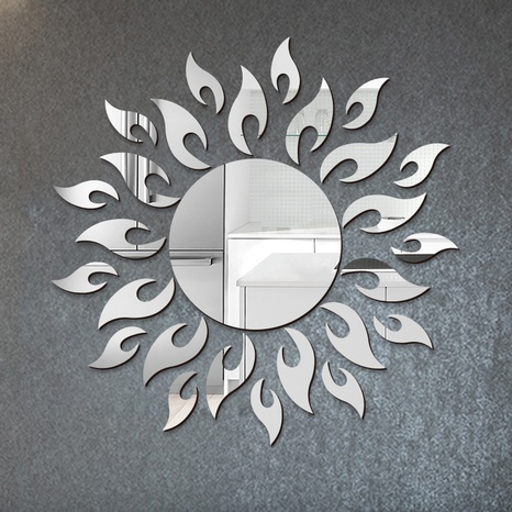 new acrylic three-dimensional mirror sun flower wall sticker NHAF322932's discount tags