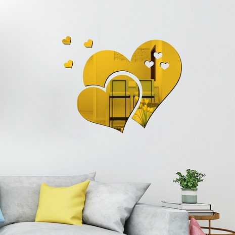 new acrylic love combination mirror wall stickers NHAF322935's discount tags