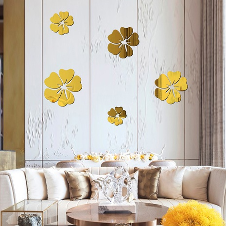 fashion hibiscus acrylic wall stickers  NHAF322944's discount tags