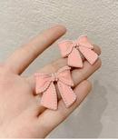Pearl bowknot simple earrings NHOT323196