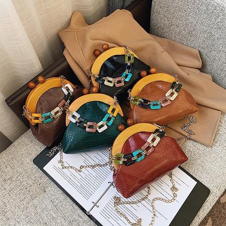 Korean retro stone pattern shell chain bag NHLH322963's discount tags