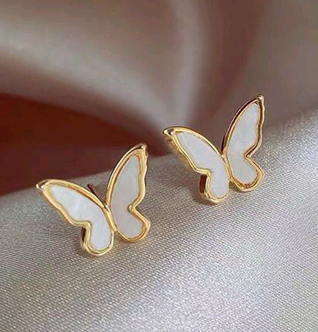 Pendientes de mariposa dulce de moda coreana NHSC323344's discount tags