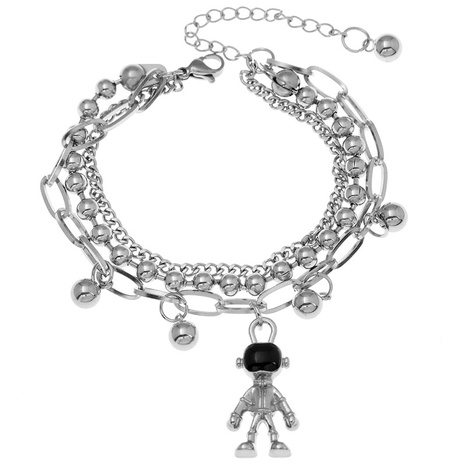 Korean fashion stainless steel spaceman pendant bracelet NHSC323331's discount tags
