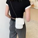 Korean Lingge embroidery thread handbags soft leather handbags chain bag coin purse NHTG322998