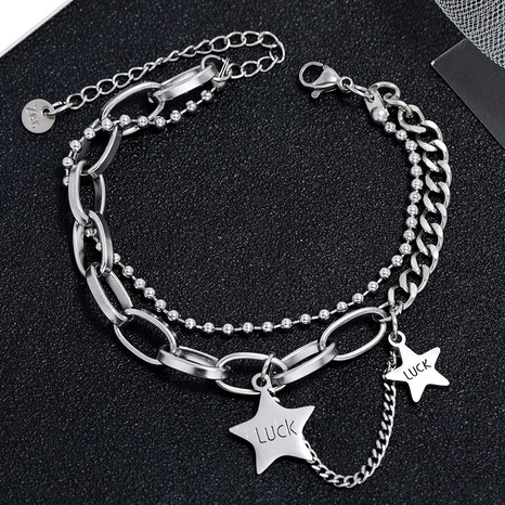 Korean fashion simple stainless steel star bracelet NHSC323324's discount tags