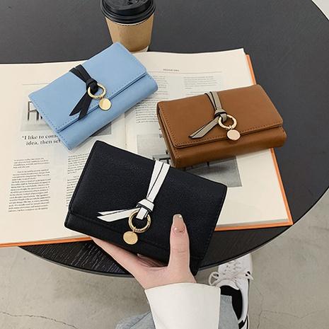 Portefeuille de sac de carte pliable étudiant porte-monnaie mignon NHTG323036's discount tags