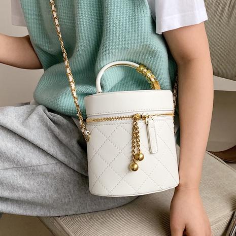 bolso de mensajero de hombro con cadena de rombos de moda NHTG323052's discount tags