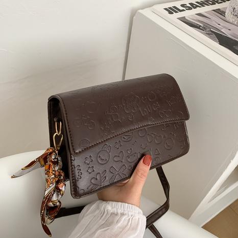 Petit sac carré gaufré à la mode NHRU323060's discount tags