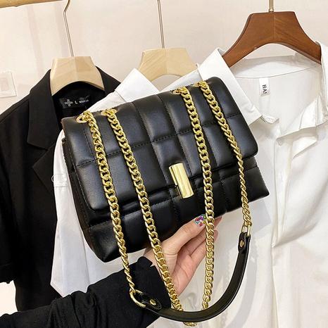 sac à bandoulière à chaîne à motif losanges NHRU323079's discount tags