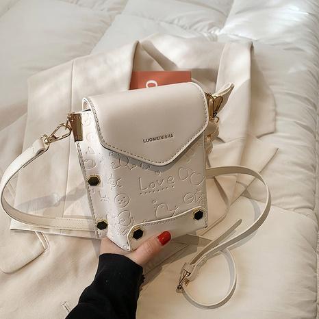 bolso cuadrado del mensajero del hombro del color sólido de la moda NHJZ323135's discount tags
