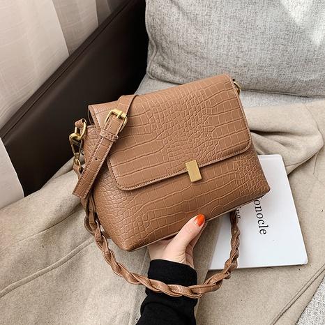Bolsa de mensajero de hombro retro de color sólido de Corea NHJZ323146's discount tags