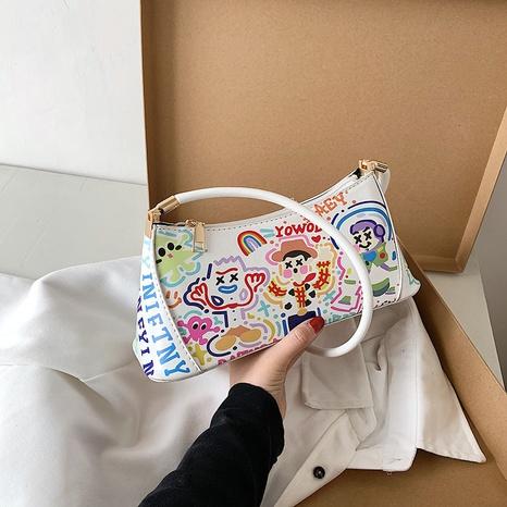Bolso de hombro de graffiti de moda coreana NHJZ323149's discount tags