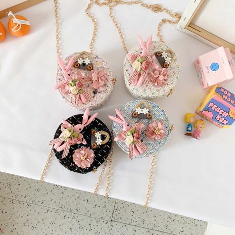 Bolso de hombro del paño de lana del bolso de los niños coreanos del algodón y del lino NHAV323219's discount tags
