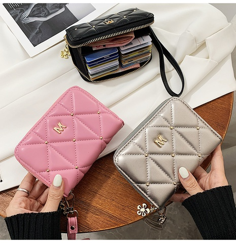 Simple student card bag cute heart short coin purse NHTG323223's discount tags