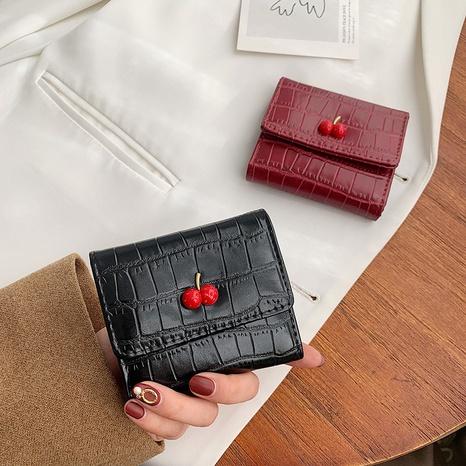 Wholesale cherry organ card bag crocodile pattern clutch coin purse NHLH323233's discount tags