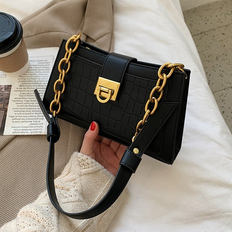 fashion retro solid color shoulder bag NHLH323253's discount tags