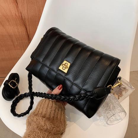 retro shoulder soft leather messenger bag NHLH323261's discount tags