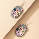 Bohemian creative geometric color flower earrings NHGY323309