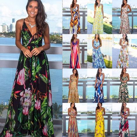 new fashion sling print beach dress NHJC323284's discount tags