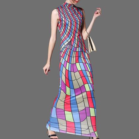 new fashion style spider web sleeveless print dress NHJG323283's discount tags