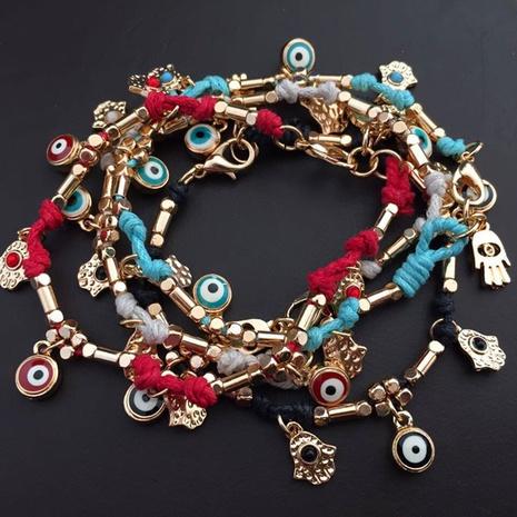 ethnic style woven Turkish Demon Eye Bracelet NHOA323351's discount tags