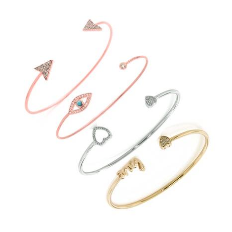 Mode geometrisches Dreieck LIEBE Diamant offenes Teufelsauge Armband NHOA323356's discount tags