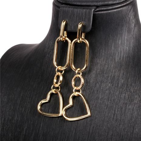 pendientes geométricos en forma de corazón de moda NHPY323362's discount tags