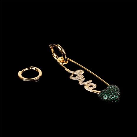 pendientes de letra en forma de corazón de moda NHPY323363's discount tags