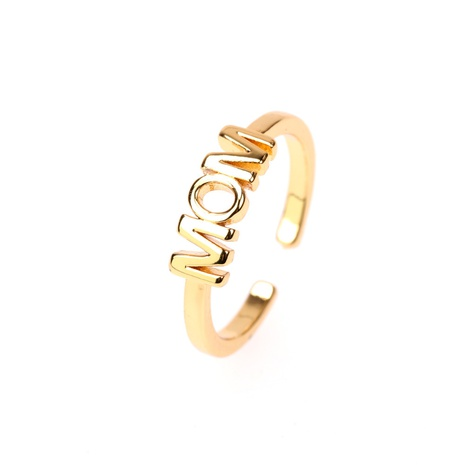 Al por mayor anillo de moda letra MOM NHPY323367's discount tags