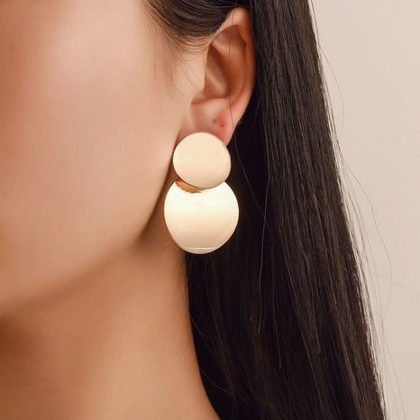 simple geometric smooth disc earrings set NHCU323392's discount tags