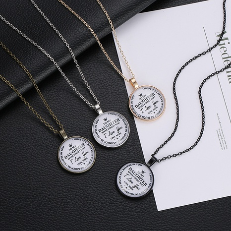 simple family letter necklace set wholesale NHMO323430's discount tags