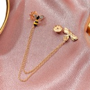 new cute diamondencrusted pair of small bee brooches NHMO323433