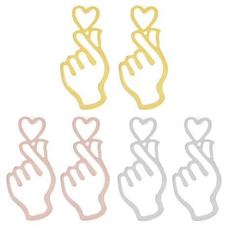 aretes sencillos y huecos de corazón que corazón NHMO323439's discount tags