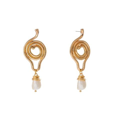 aretes de perlas de agua dulce naturales de forma geométrica simple NHAN323488's discount tags