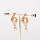 simple geometric shape natural freshwater pearl earrings NHAN323488