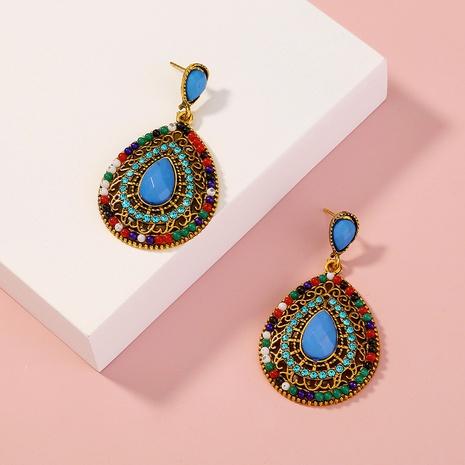 bohemian beads full diamond earrings NHAN323494's discount tags