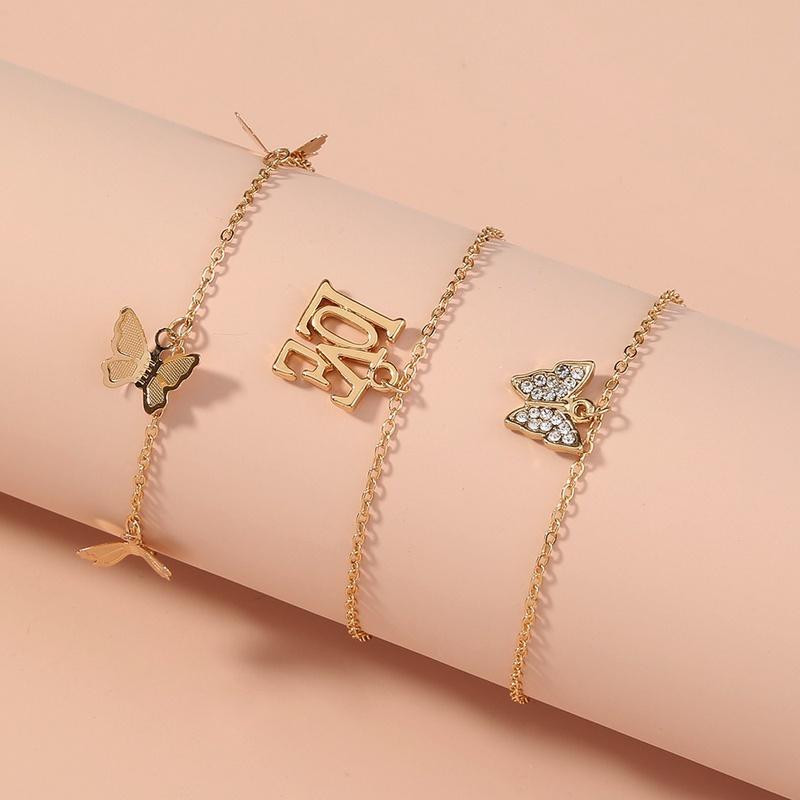 nouveau bracelet multicouche de gland de papillon sauvage de mode NHAN323503