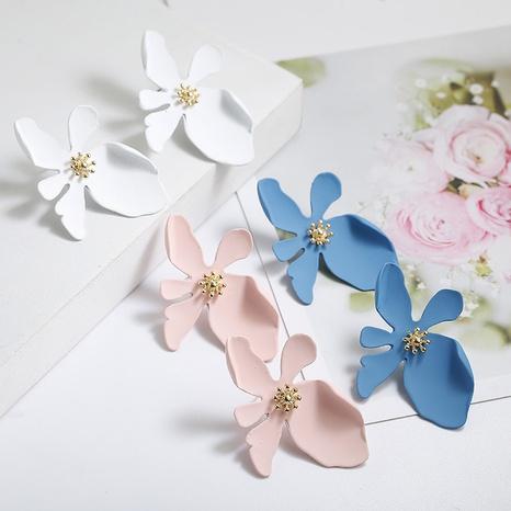 Pendientes grandes de pétalos de flores largos de moda NHPF323508's discount tags