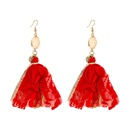 bohemian lace tassel long cloth earrings NHLN323511