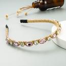 Korean simple rhinestone winding bronzing headband NHLN323516