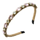 Korean simple rhinestone winding bronzing headband NHLN323516