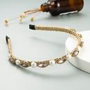 Korean fashion simple pearl rhinestone headband NHLN323517