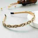 fashion simple gold wire winding diamond thin headband NHLN323521