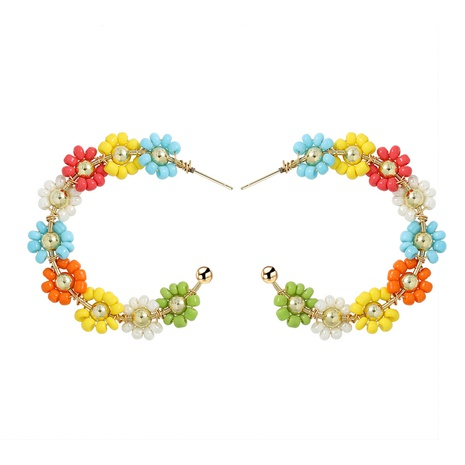 Geometric earrings flower alloy earrings NHJQ323530's discount tags