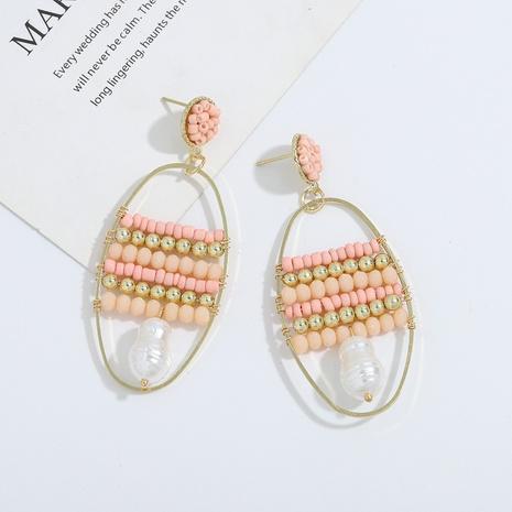 Bohemian handmade pearl alloy earrings NHJQ323537's discount tags