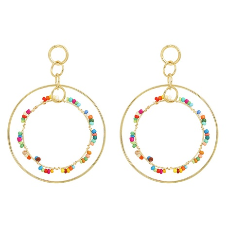 fashion double circle earrings wholesale NHJQ323538's discount tags