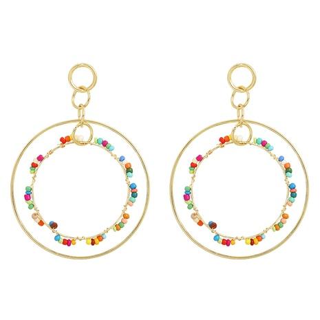 Pendientes de doble círculo de moda al por mayor NHJQ323538's discount tags
