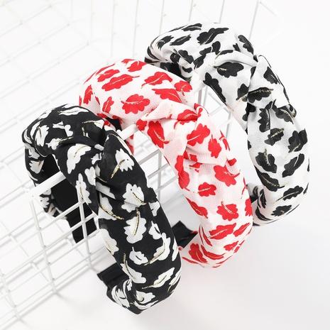 modisches Blattdrucktuch breitseitig geknotetes Stirnband NHJE323544's discount tags